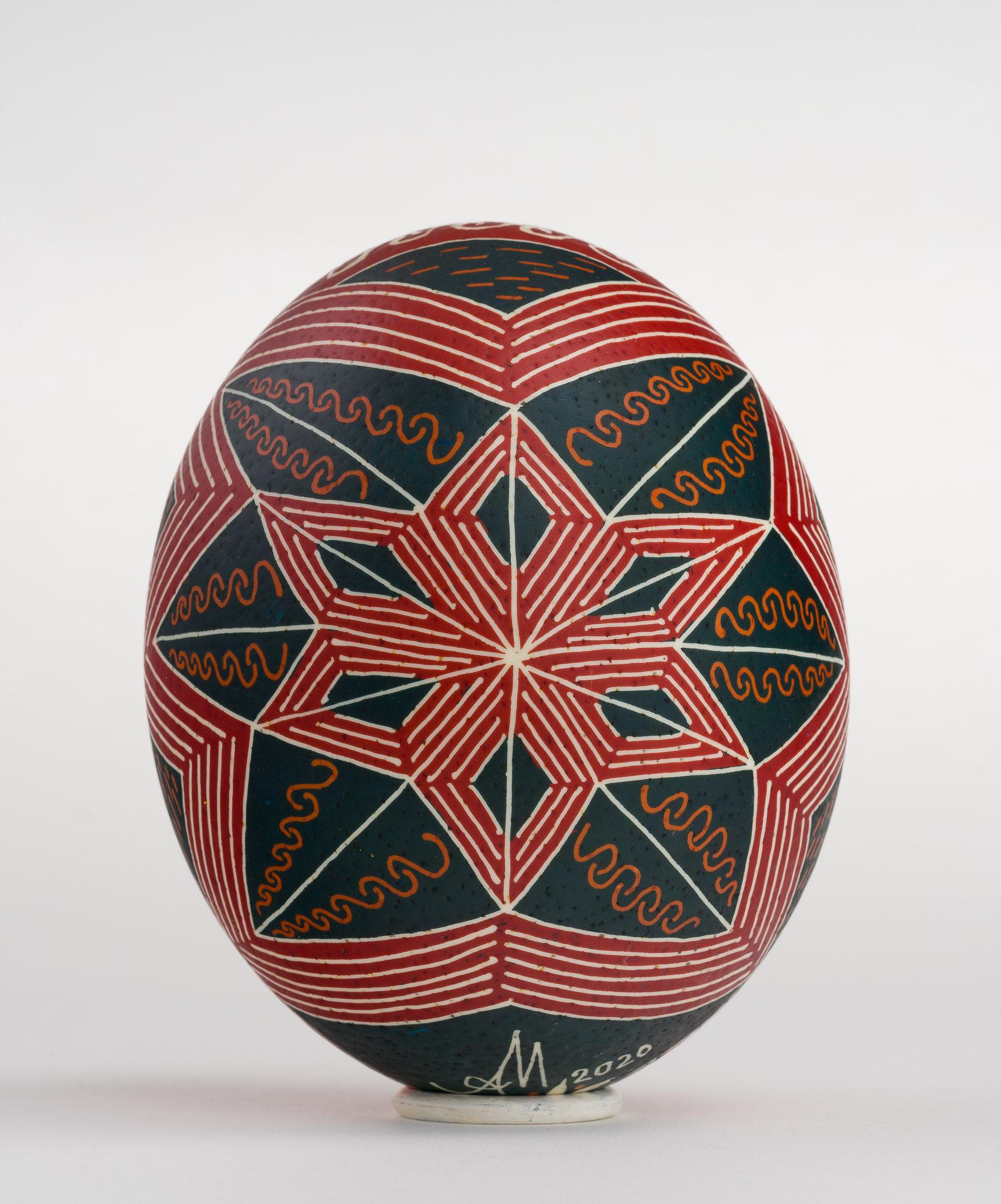 Icoană încondeiată pe ou de struț - Sfânta Treime nou-testamentară - maryando-104b.jpg