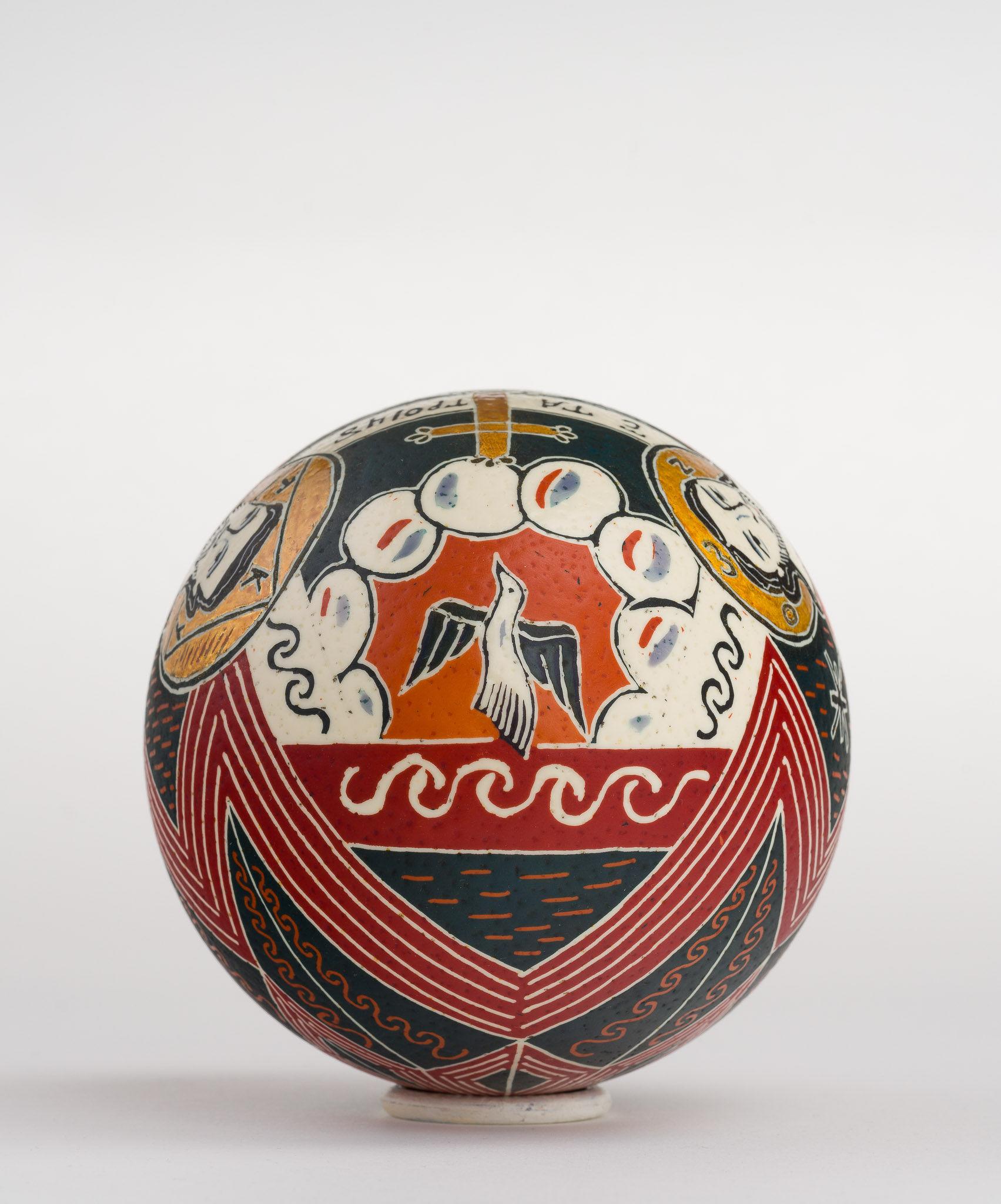 Icoană încondeiată pe ou de struț - Sfânta Treime nou-testamentară - maryando-104d.jpg