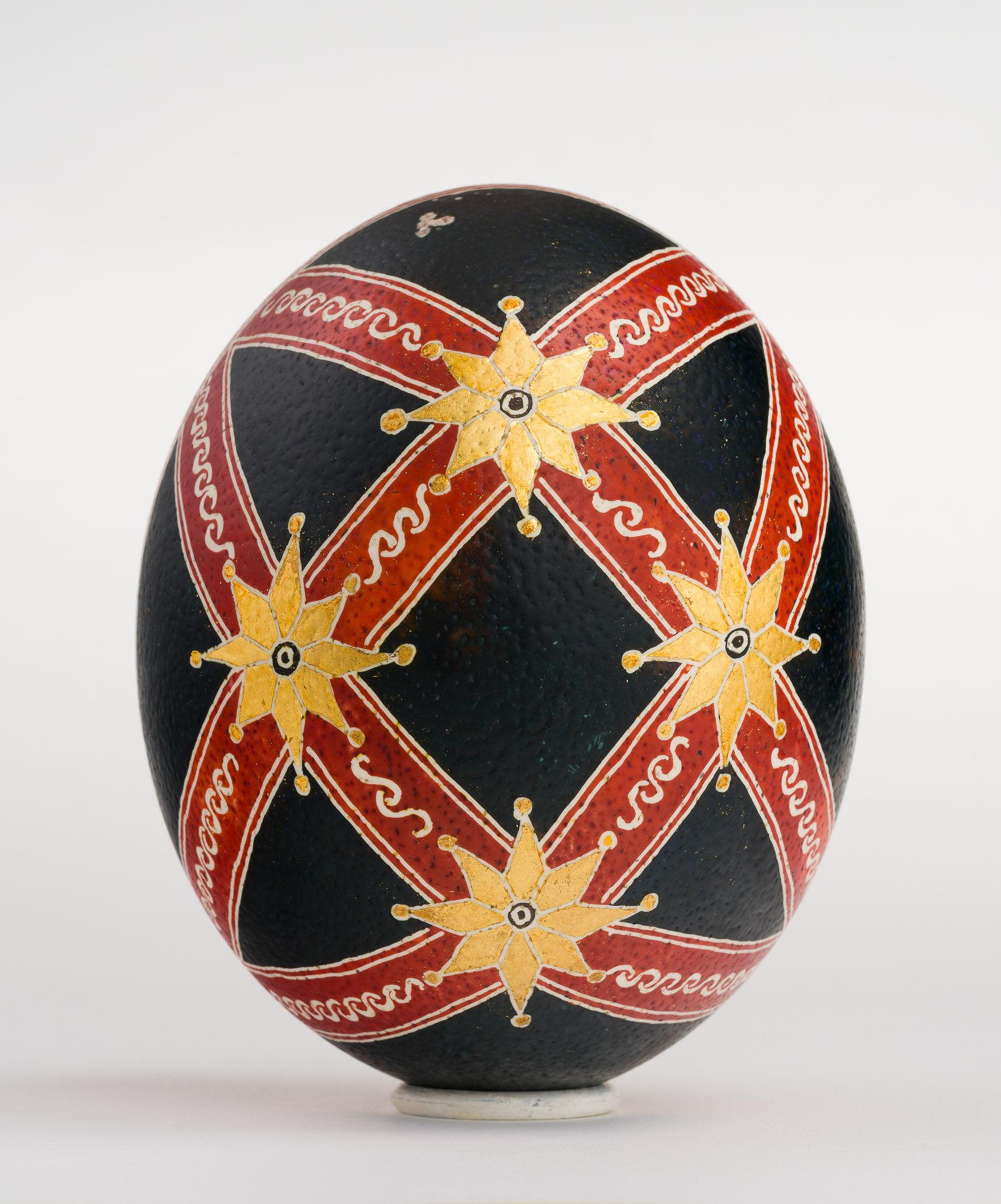 Icoană încondeiată pe ou de struț - Nașterea Domnului - maryando-112b.jpg