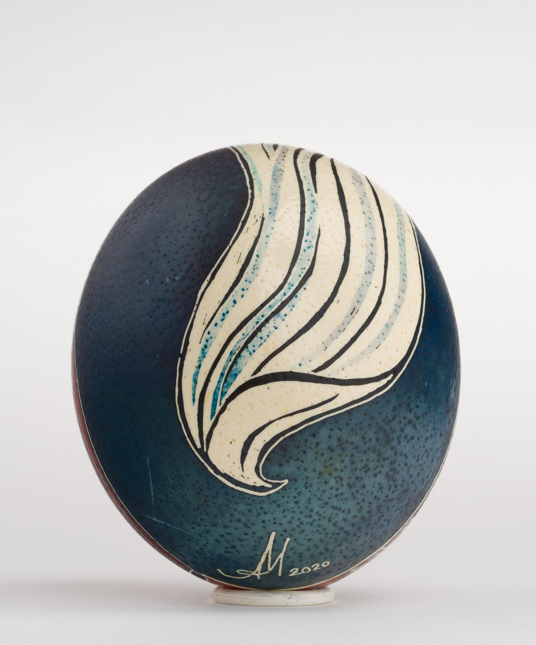 Icoană încondeiată pe ou de struț - Tăierea imprejur - maryando-114b.jpg