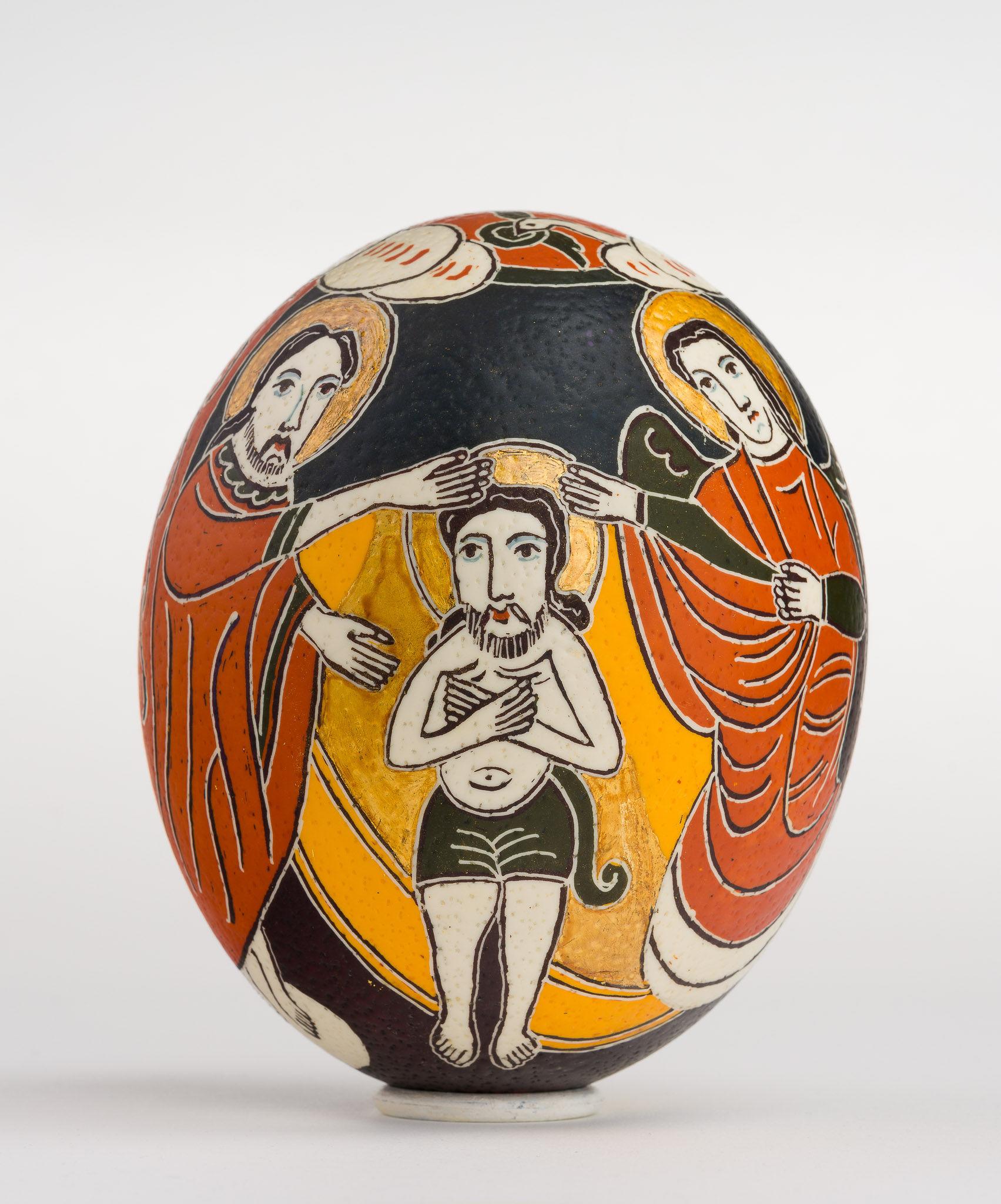 Icoană încondeiată pe ou de struț - Botezul Domnului - maryando-117.jpg