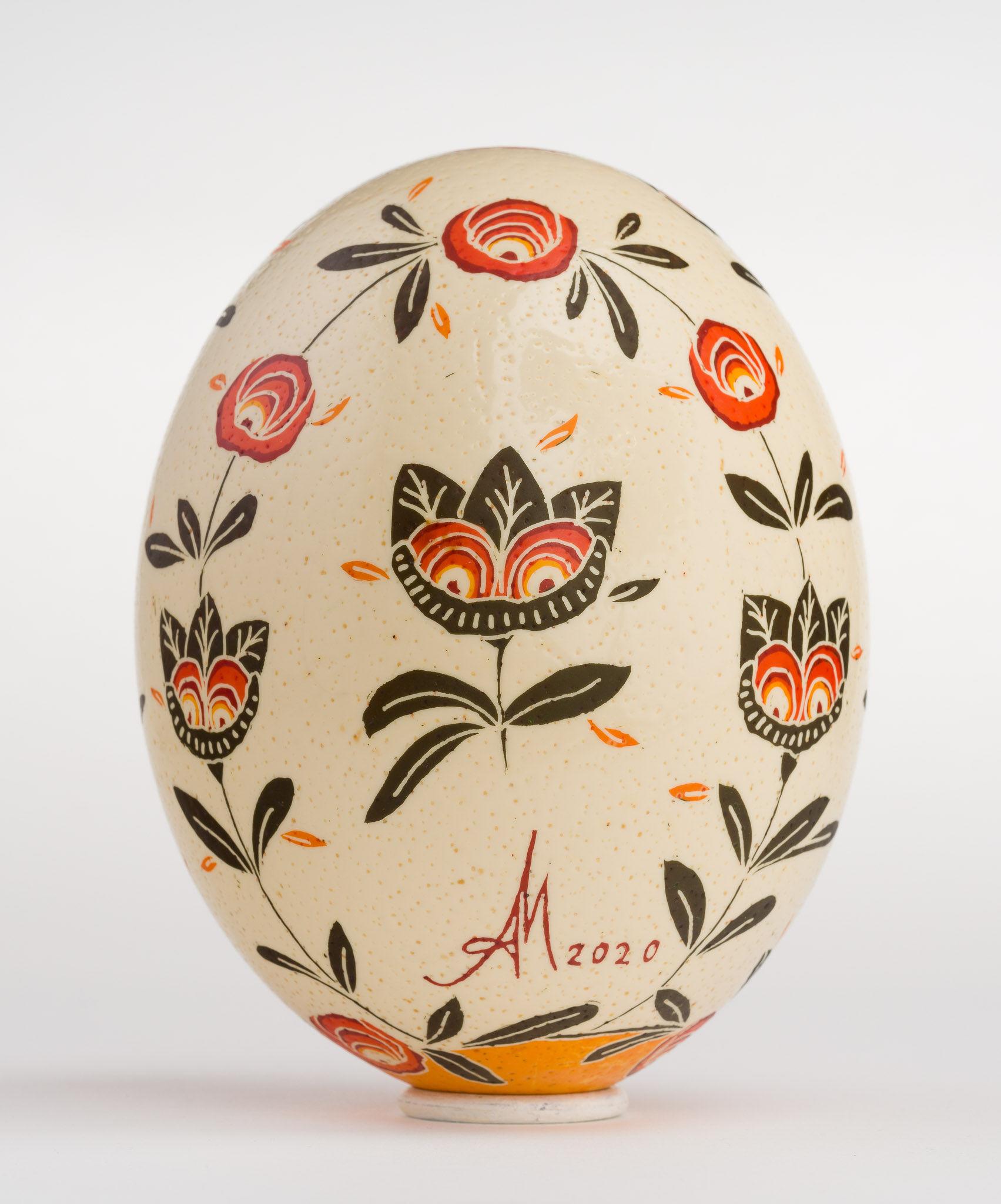 Icoană încondeiată pe ou de struț - Cina cea de Taină - maryando-120b.jpg