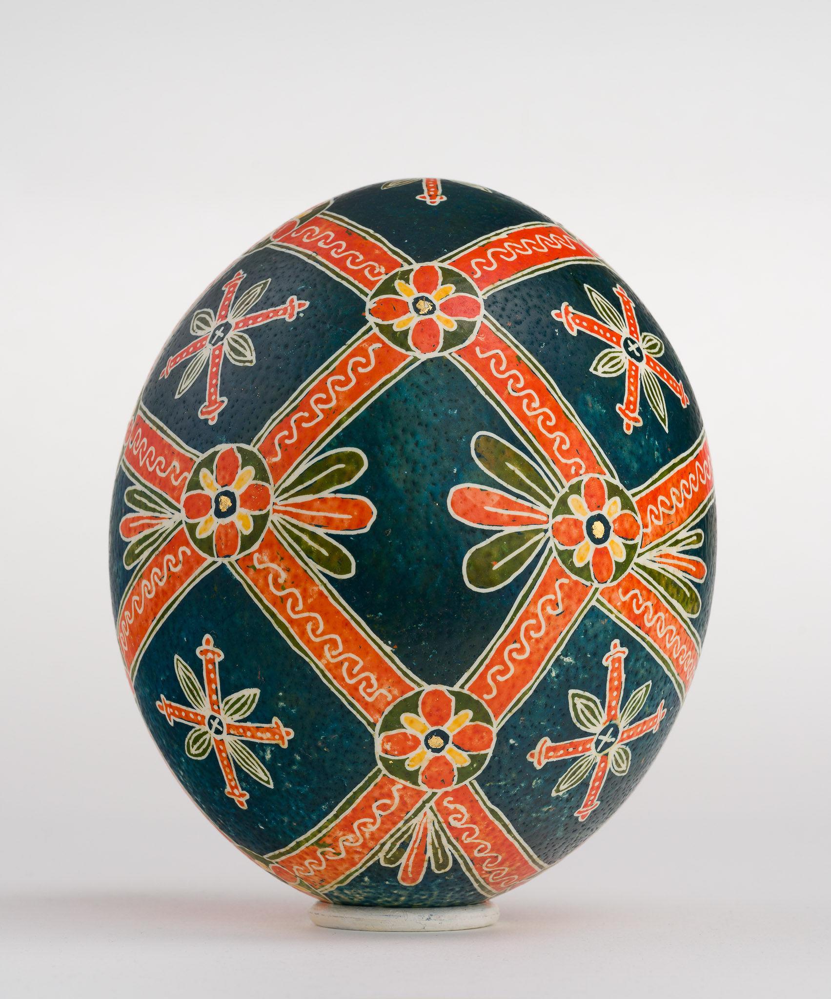 Icoană încondeiată pe ou de struț - Masa Raiului - maryando-123b.jpg