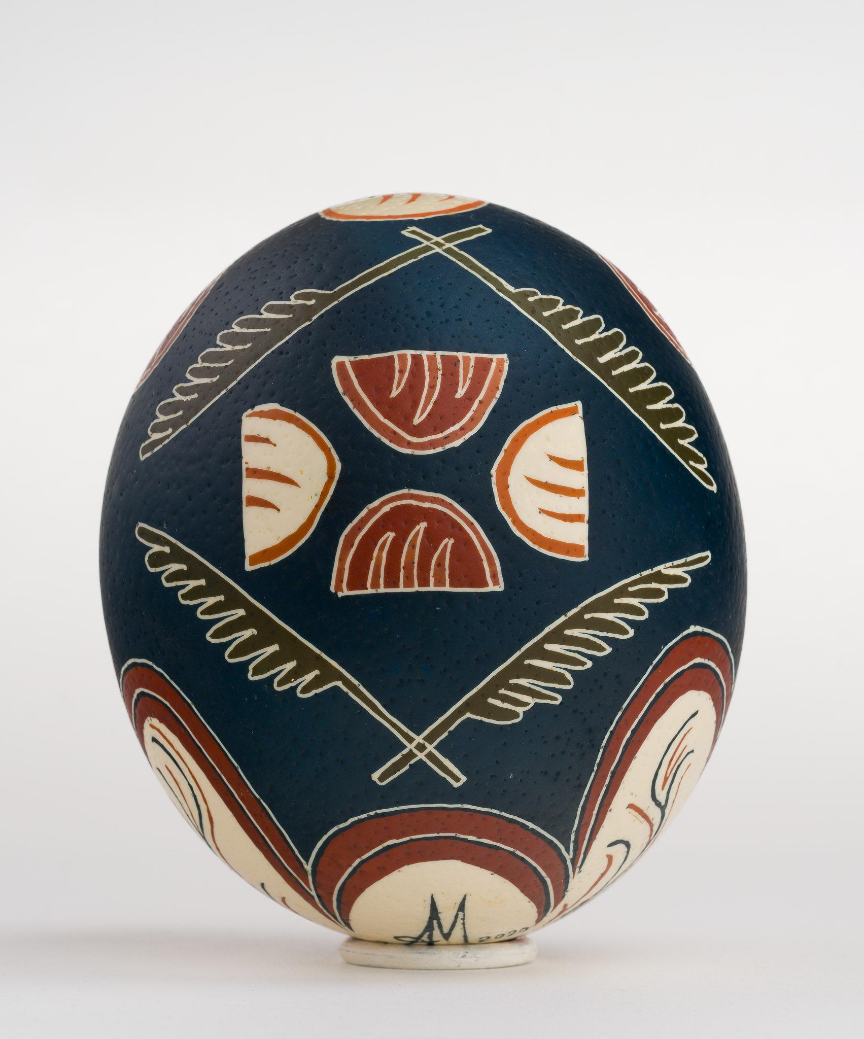Icoană încondeiată pe ou de struț - Sfânta Cuvioasă Paraschiva - maryando-124b.jpg