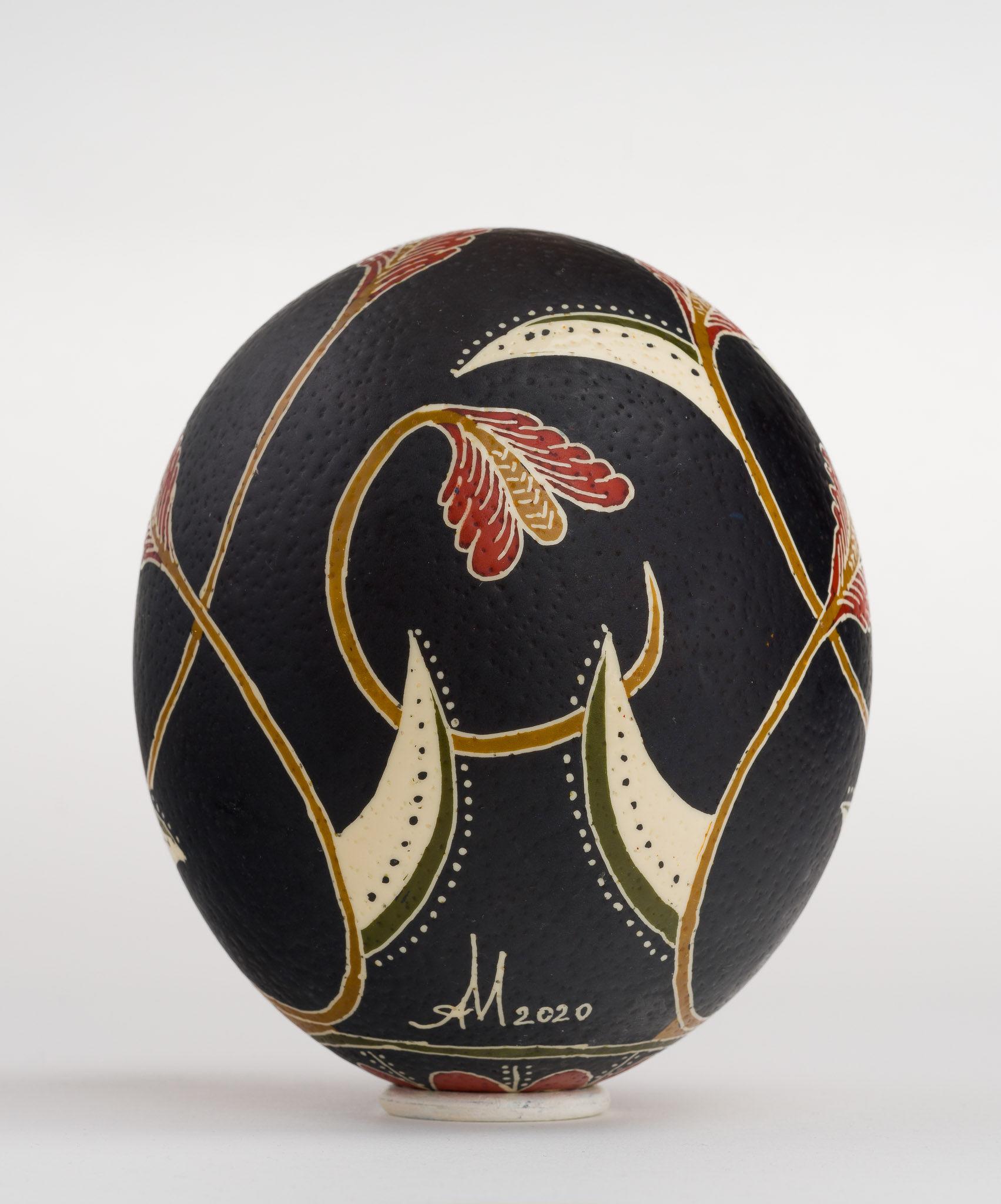 Icoană încondeiată pe ou de struț - Sfântul Nicolae - maryando-126b.jpg
